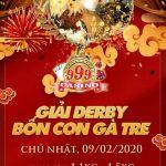 Trực tiếp video giải gà Thomo Casino 999, chủ nhật ngày 9/2/2020